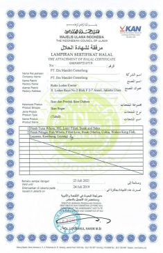 Awards & Certification HALAL CERTIFICATE 3 0013